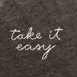 Take It Easy Embroidered Tee